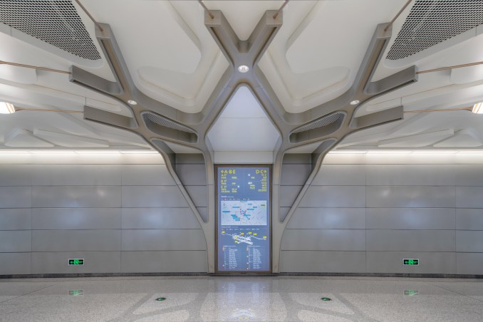 Cuqiao Station designed by J&A and Sepanta Design for Chengdu's fully-automated metro line