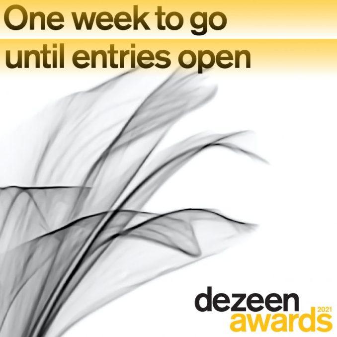 Dezeen Awards opens in one week