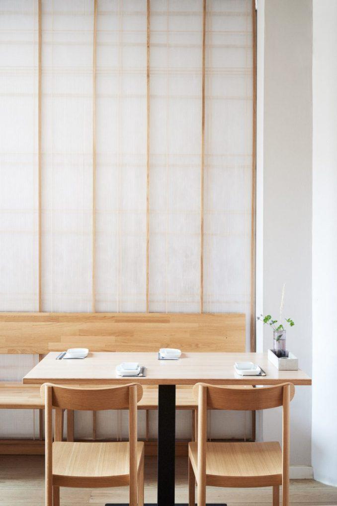 Copenhagen restaurant with Japanese-style interior