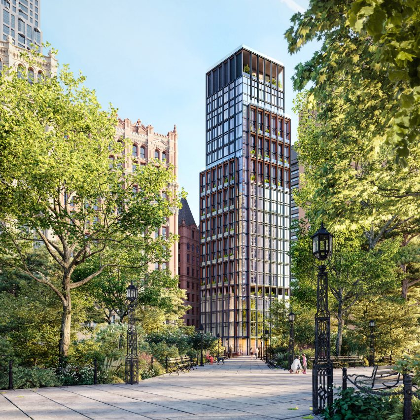 No 33 Park Row by Rogers Stirk Harbour + Partners in New York
