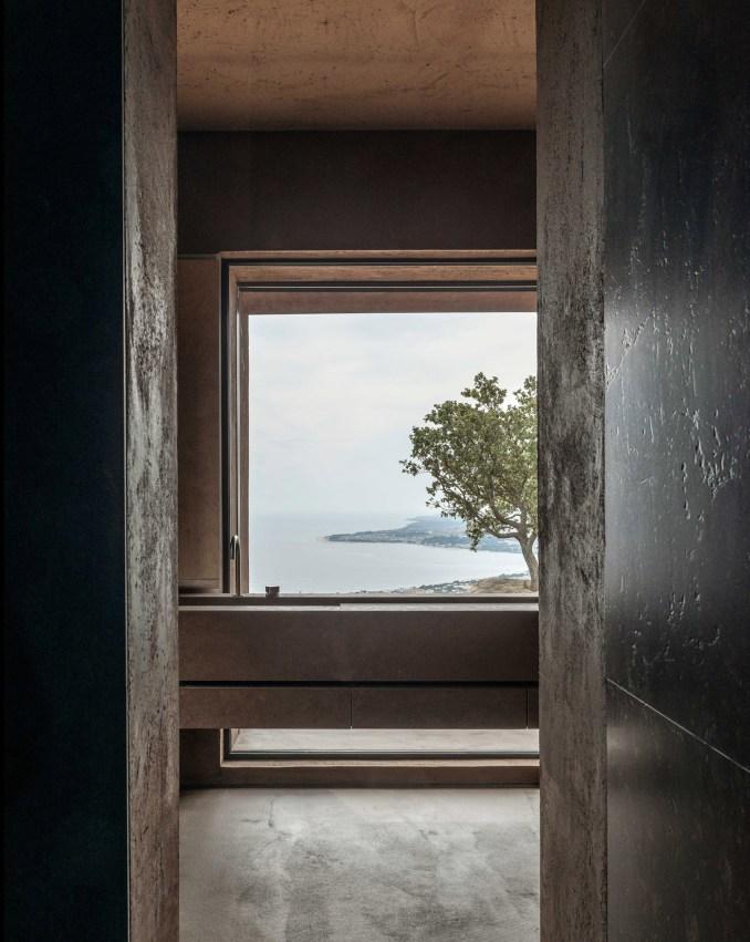 Bathroom design with sea views