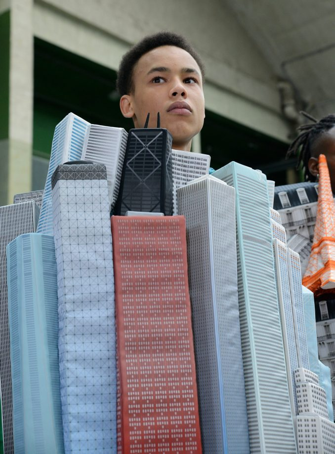 Skyscraper puffer jacket