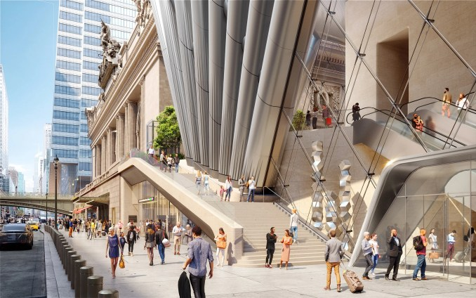 Street level view of 175 Park Avenue by SOM