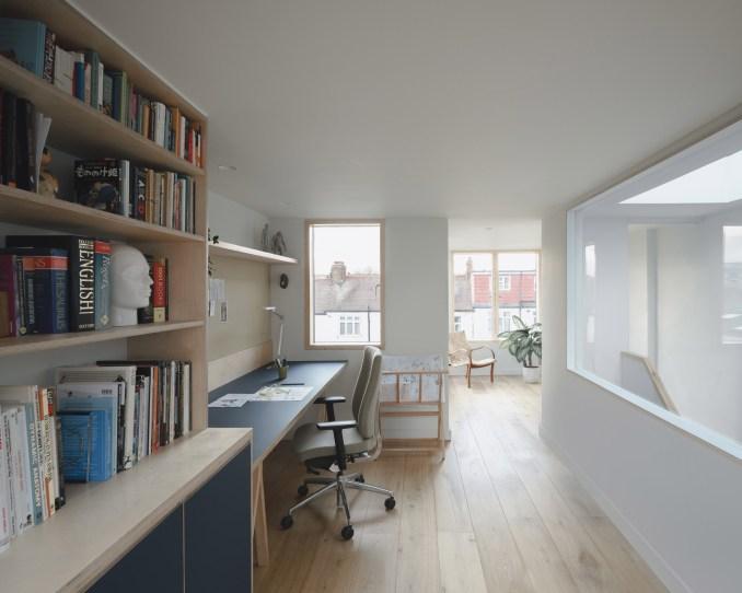 An attic studio in a terraced London house by DeDraft