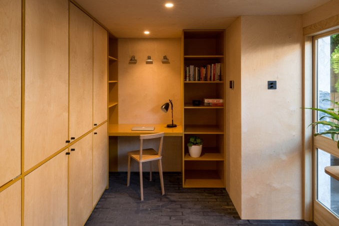Birch plywood home office from Hansler Road house extension
