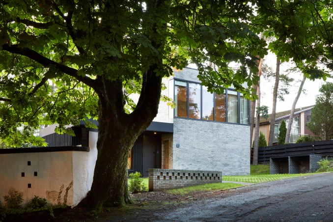 The brick exterior of a house in Glasgow by McGinlay Bell