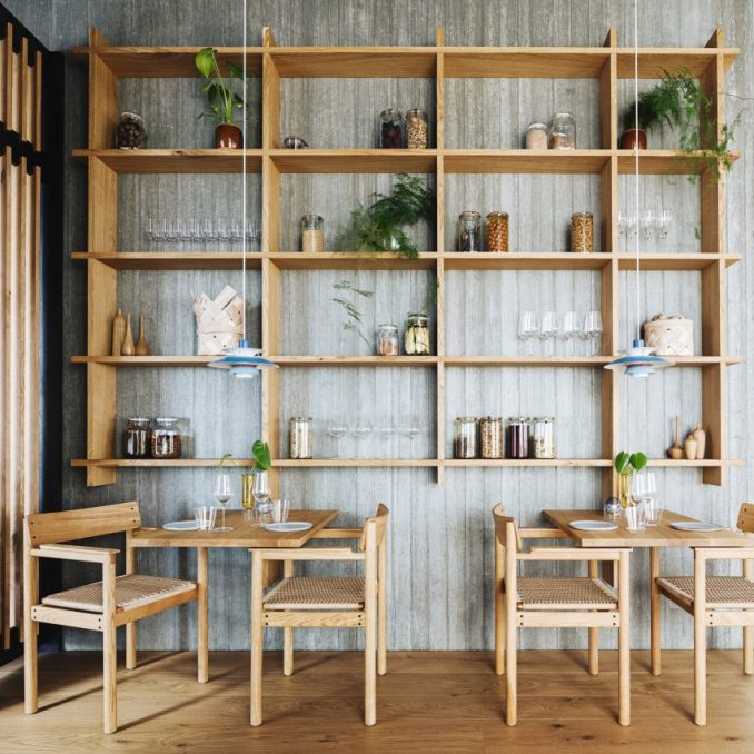 Pantry in Substans restaurant in Aarhus by Krøyer & Gatten