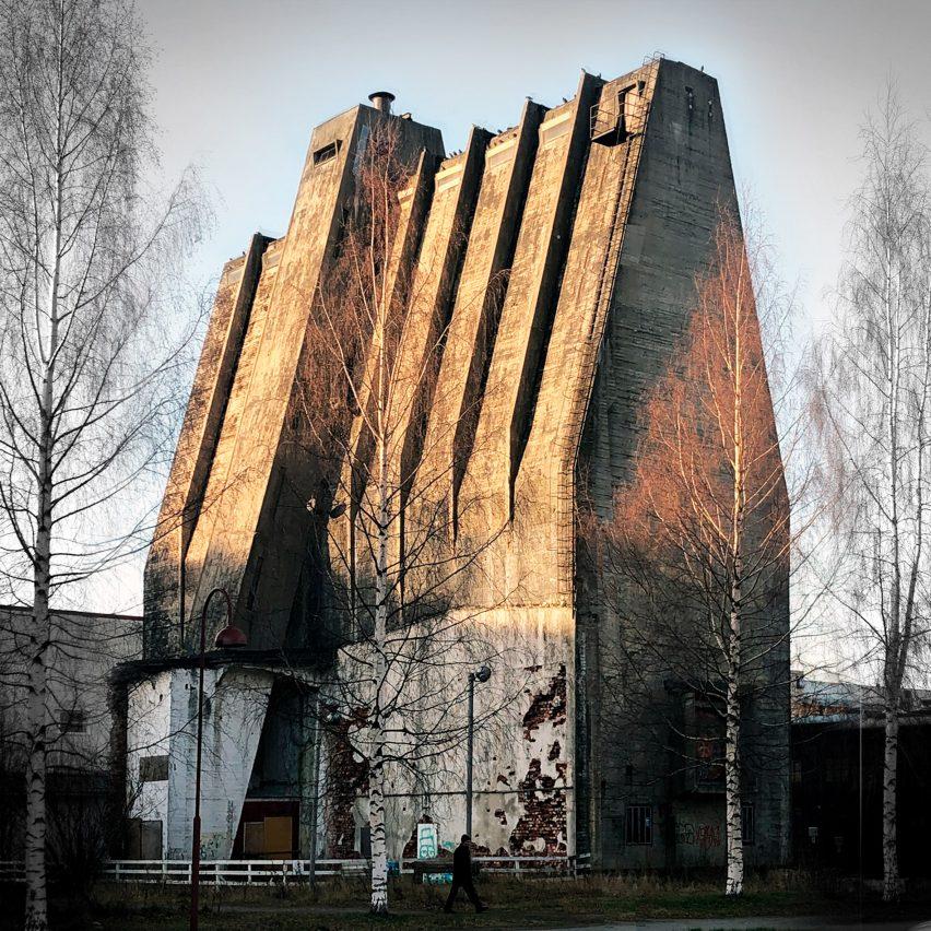 A silo designed by Alvar Aalto in Oulu