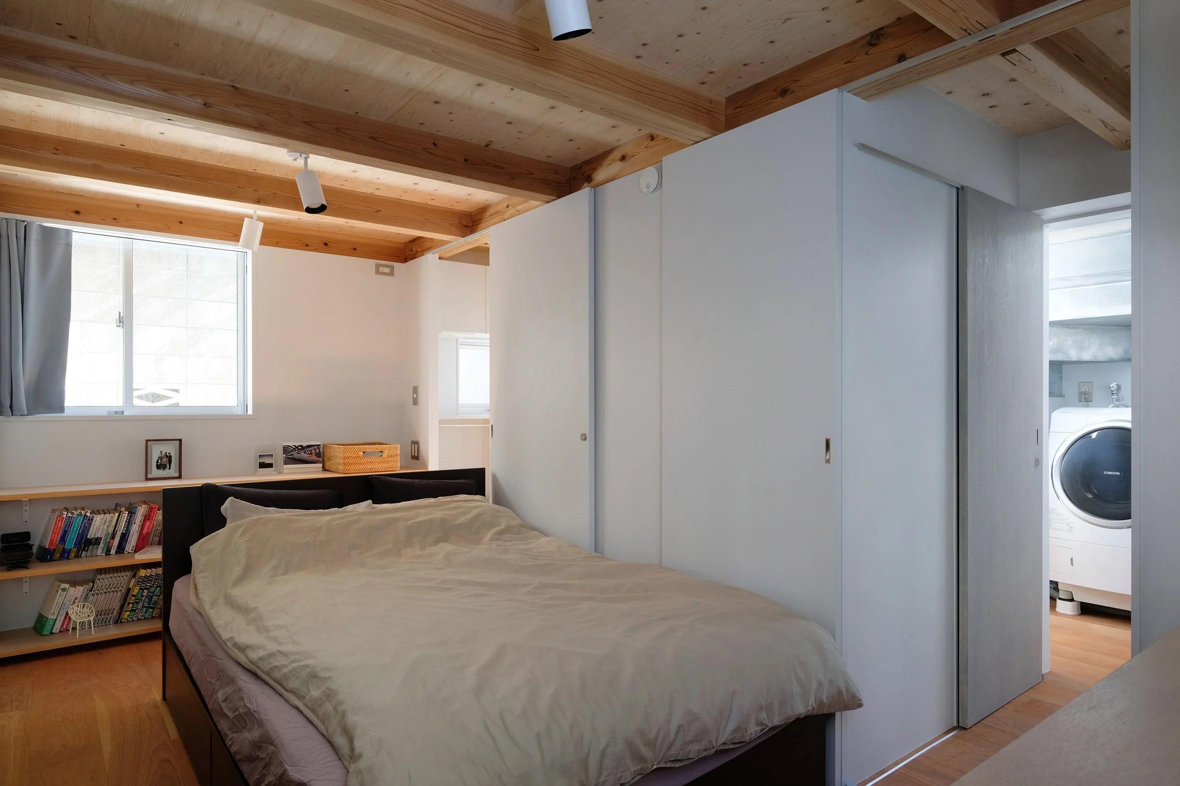 Ground floor bedroom in Japanese house