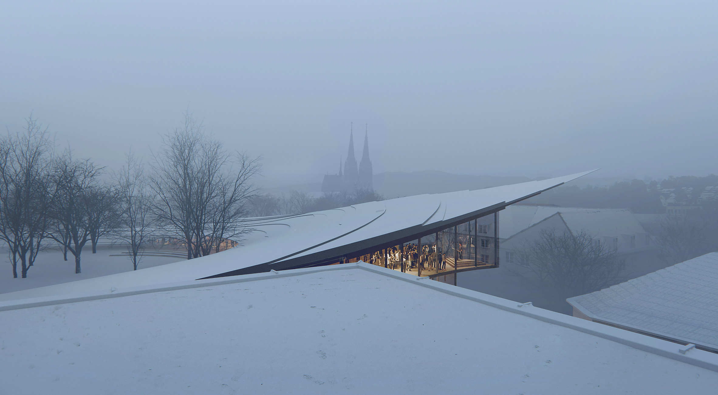 The roof of the Ibsen Library by Kengo Kuma and Associates