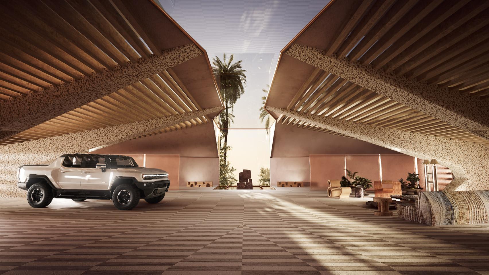 Hummer EV virtual design interior for California