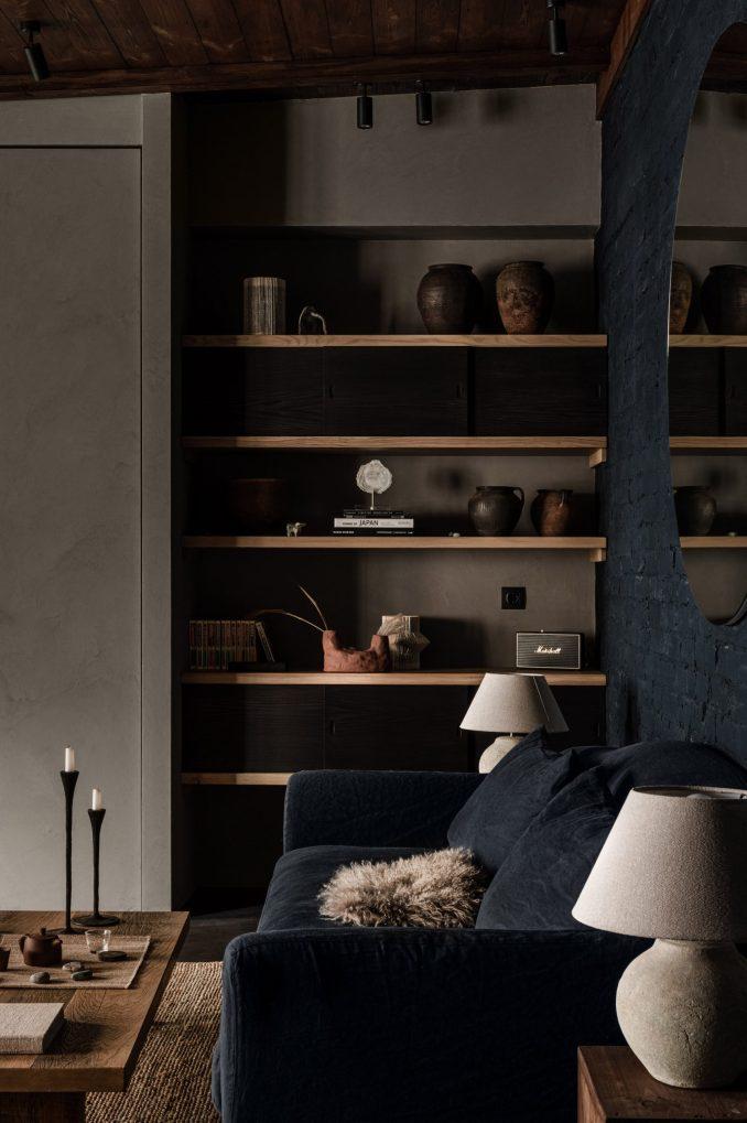 Built-in storage in interior designed by Olga Fradina