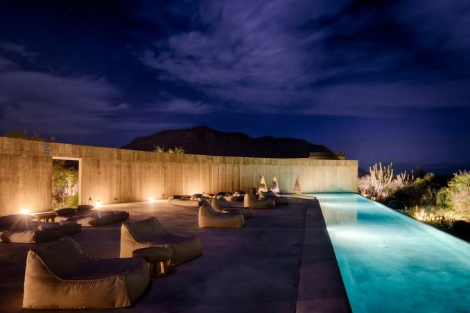 Paradero Hotel has an infinity pool