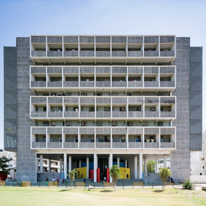 A student accommodation block informed by Le Corbusier