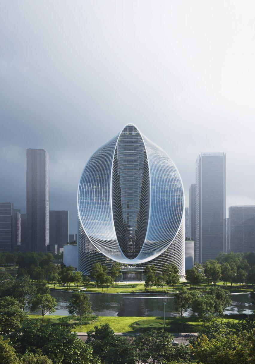 O-Tower, infinity loop skyscraper by BIG in Hangzhou