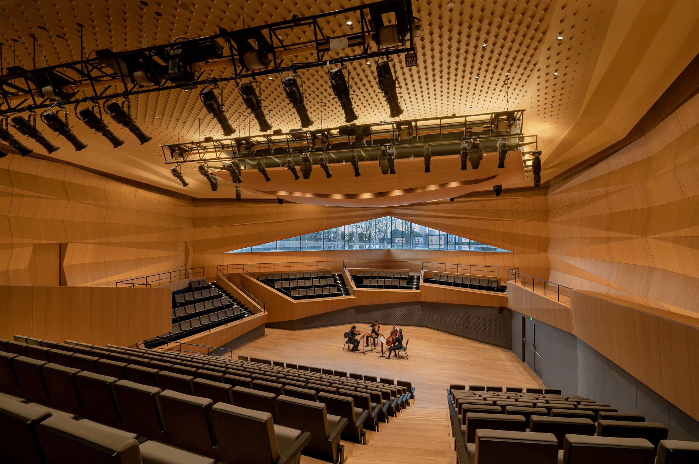 A wooden recital hall in China