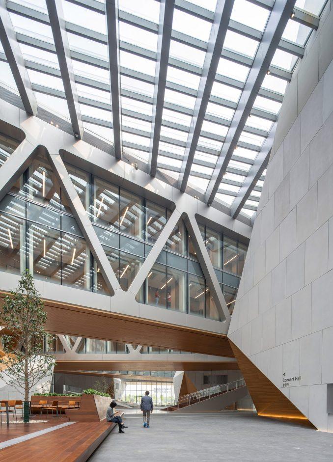 The lobby of the Tianjin Juilliard School