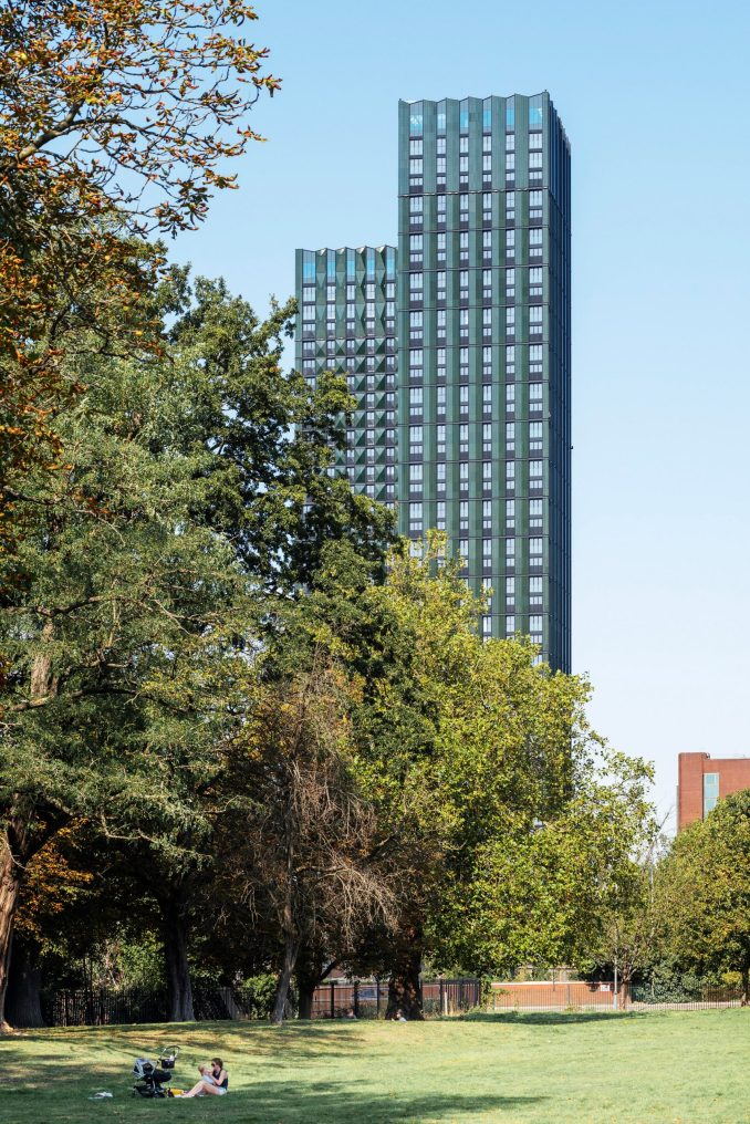The housing scheme comprises two towers