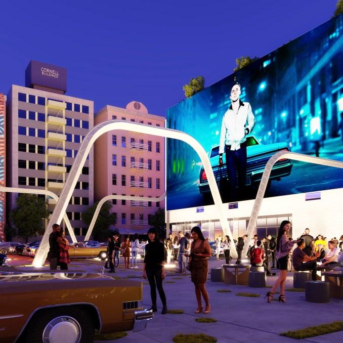 Drive-in cinema concept for LA