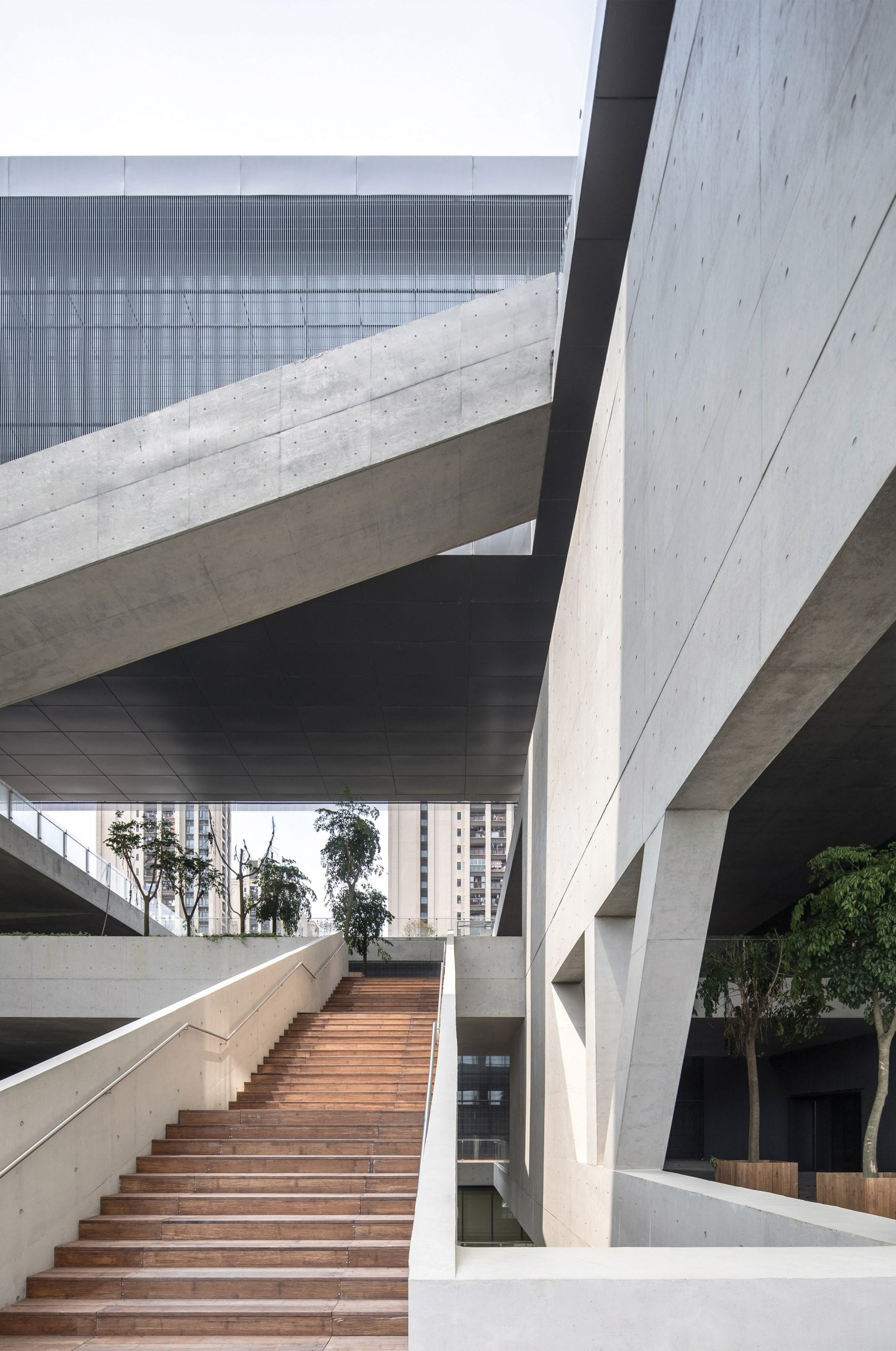 Entrance to Pingshan Art Museum by Vector Architects