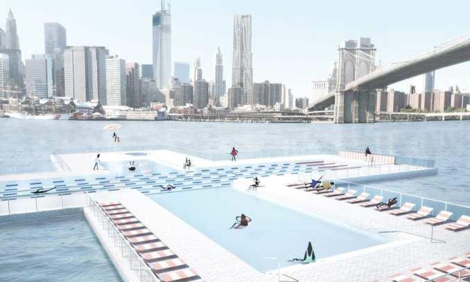 Renders of New York saltwater pool