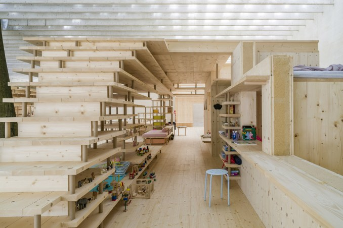 A prototype for a living space in a co-housing block