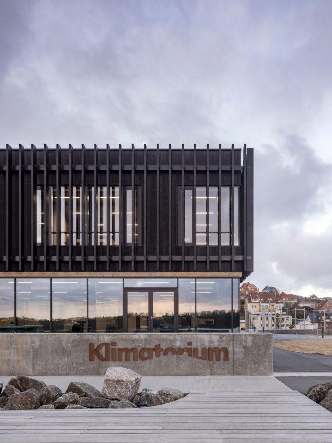 The wooden exterior of the Klimatorium