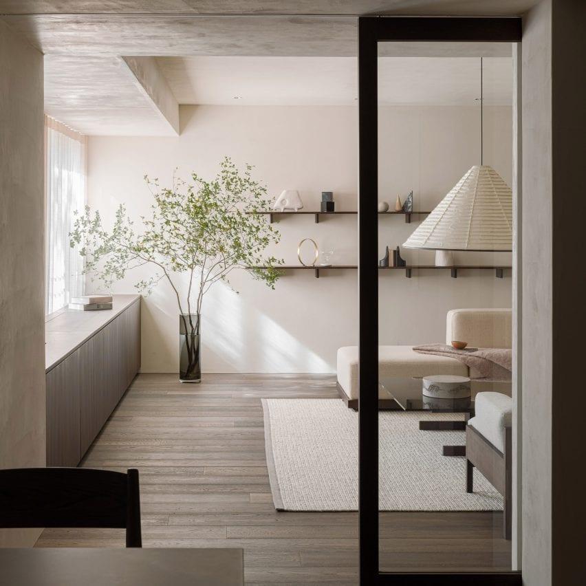 Living room of Azabu Residence, Tokyo