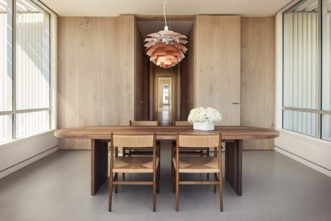 Rooms in the Donum Home feature earthy tones