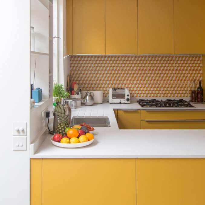 Eight space-efficient U-shaped kitchens