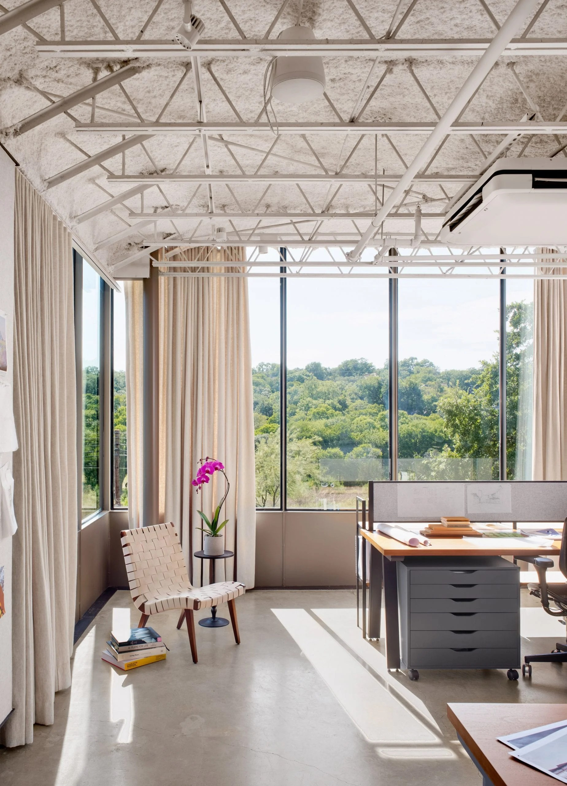 Large windows in Austin office