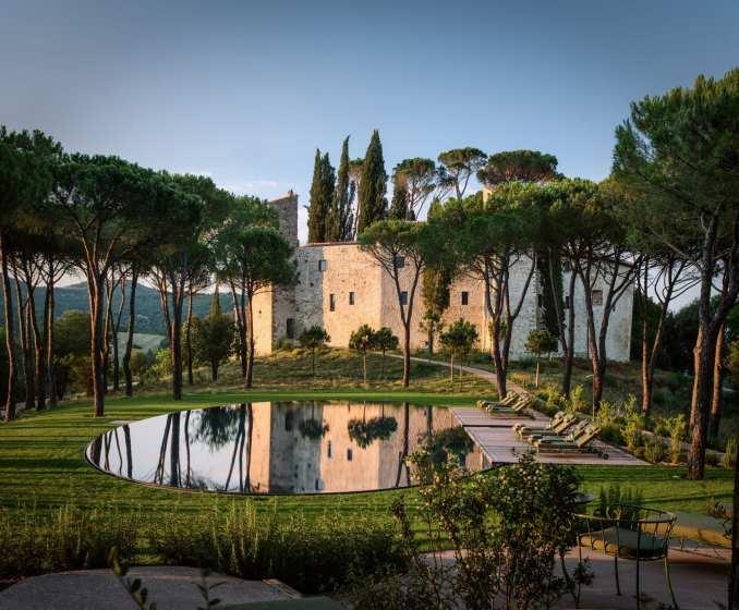 Swimming pool at Castello di Reschio