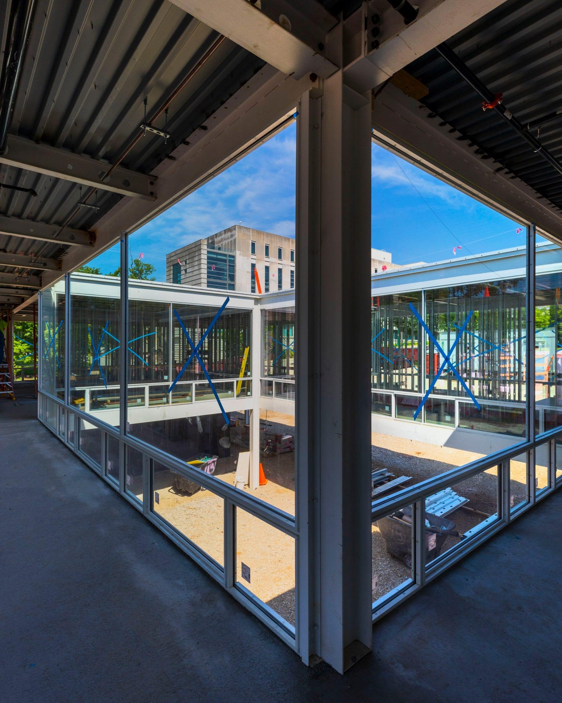 Mies Building for the Eskenazi School of Art, Architecture + Design under construction