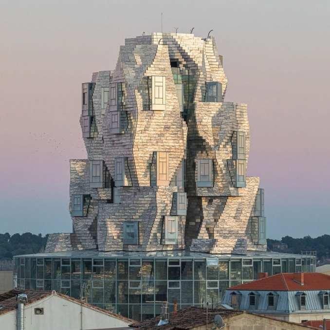 Luma Arles arts tower by Frank Gehry