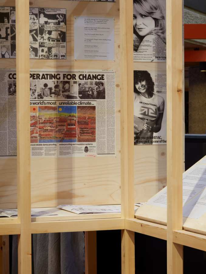 Posters and extracts at the How We Live Now exhibition