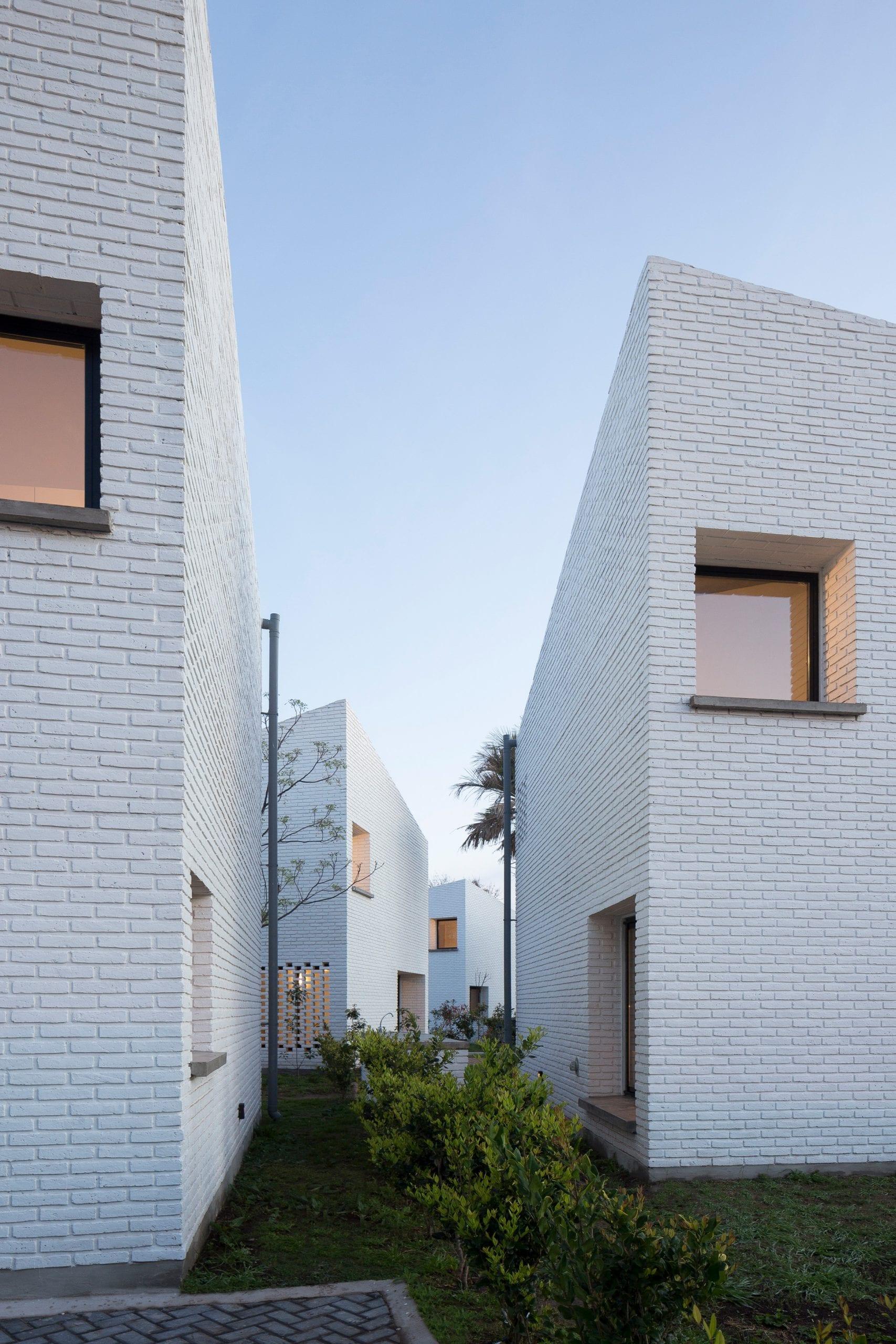 White facades