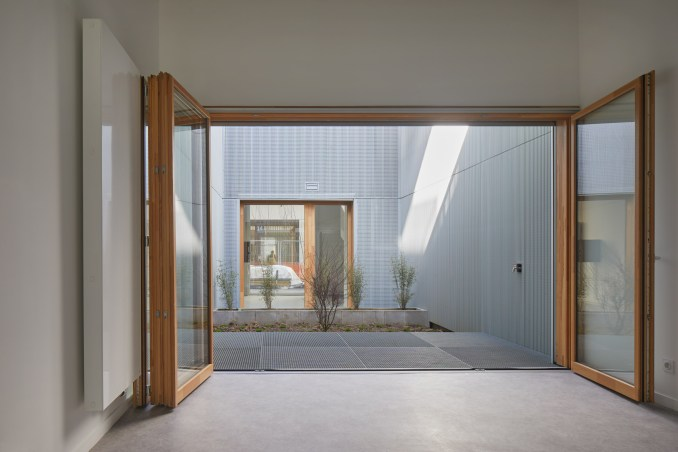 An apartment with a central courtyard