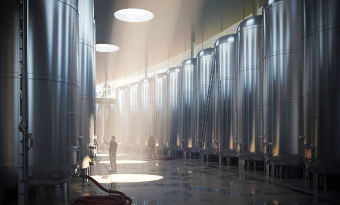 A visual of a winemaking facility