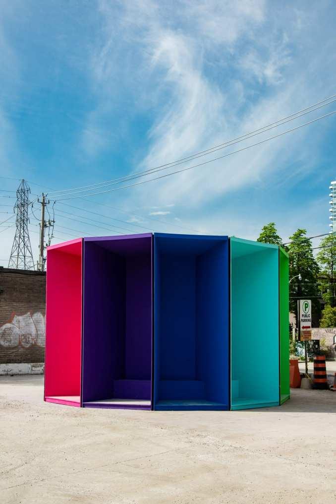 Throbber pavilion at Toronto's Winter Stations 2021 event