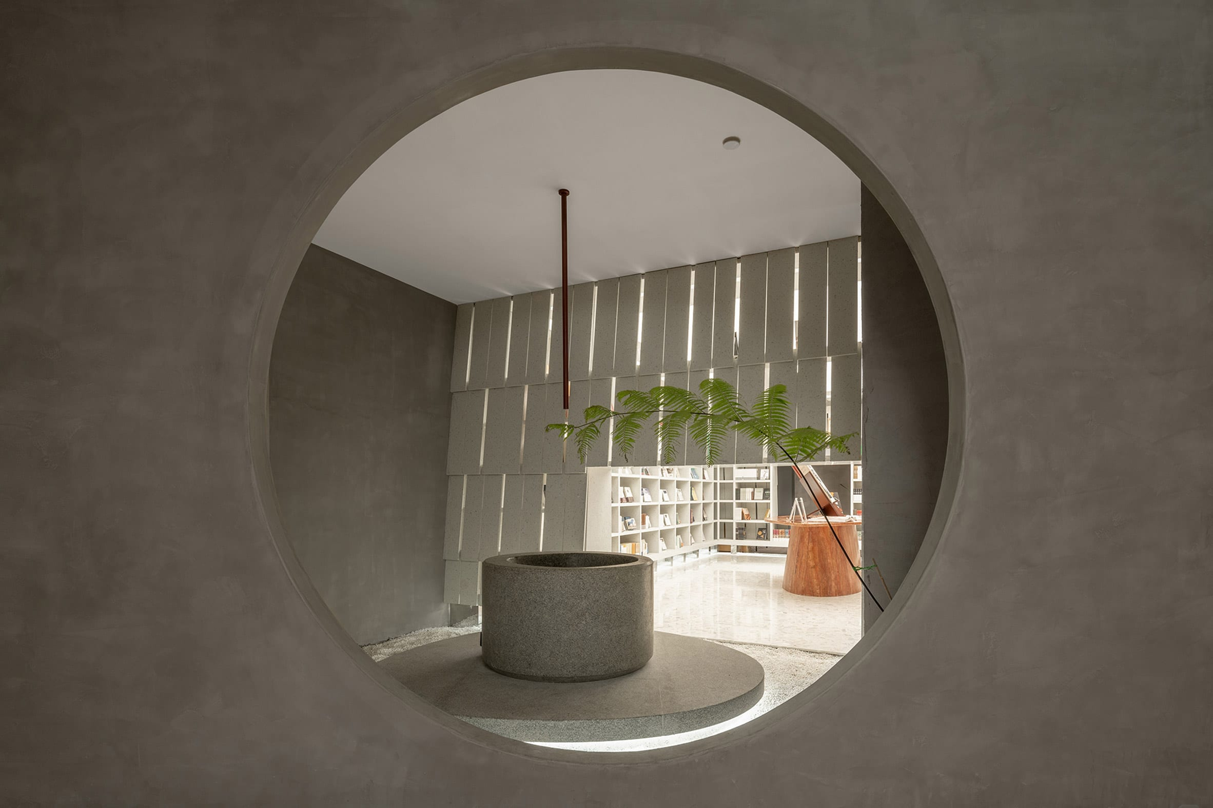 The concept of framing views is borrowed from traditional Chinese garden design