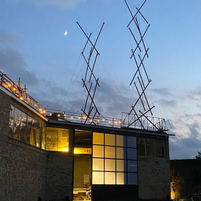Tensegrity structures at Antepavilion