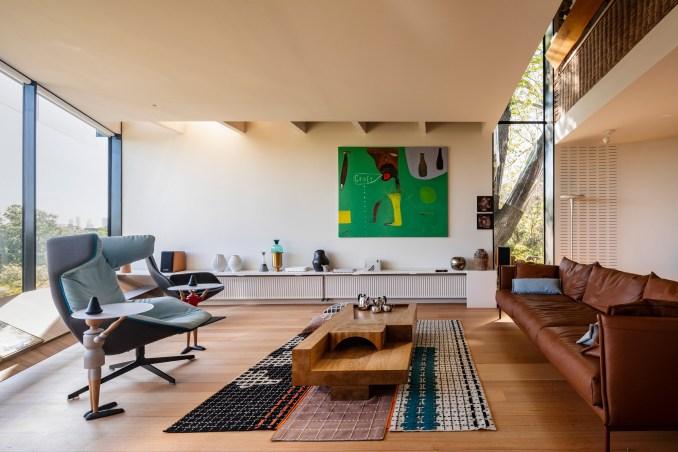 John Wardle's home has an art-filled interior