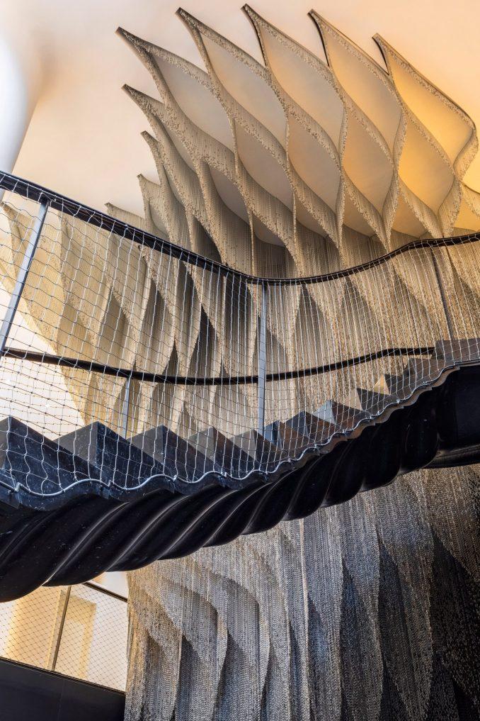 A staircase in Casa Battló