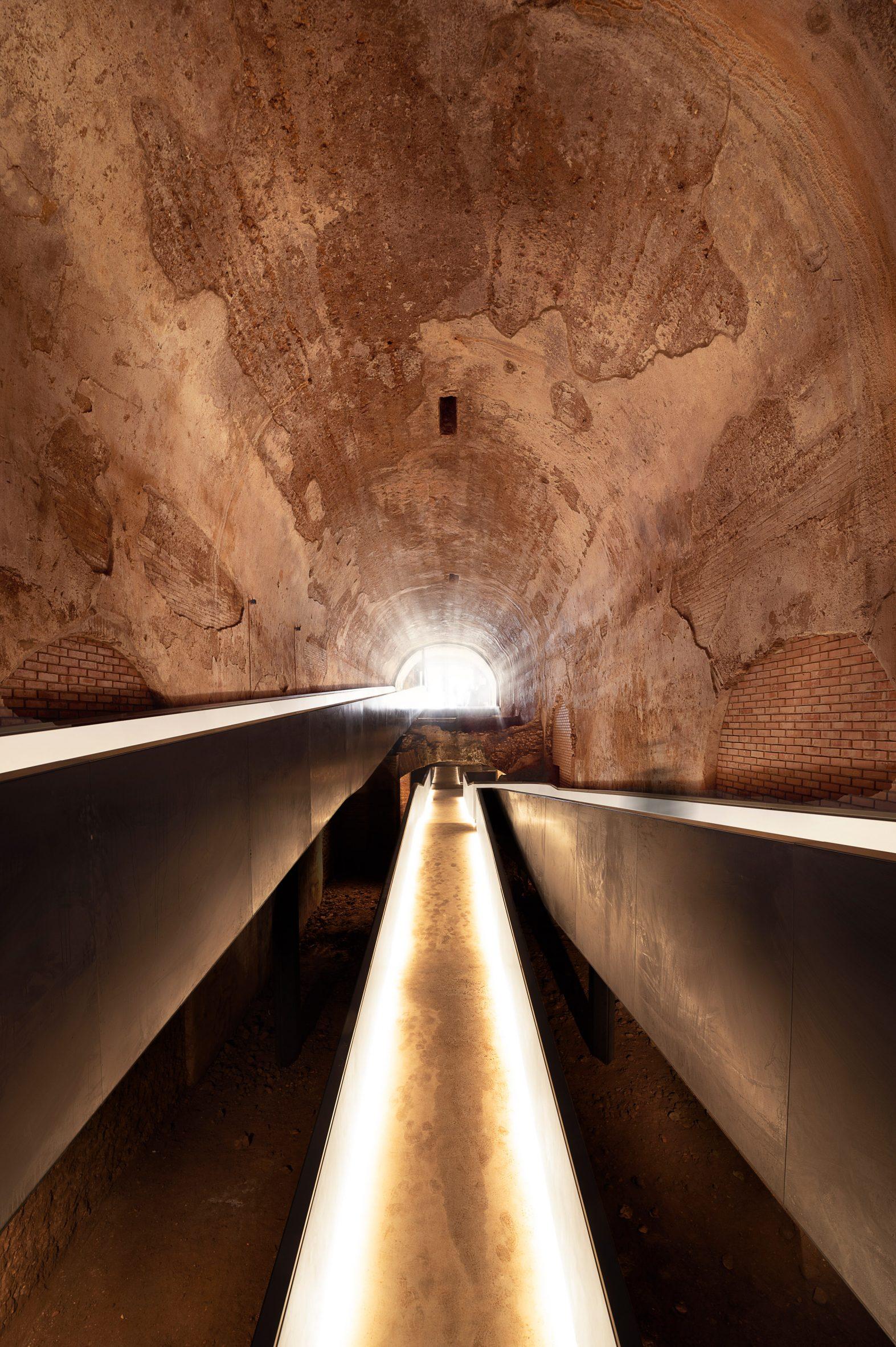 A metal walkway