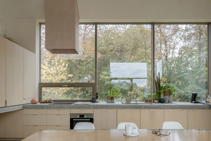 The home has a large kitchen