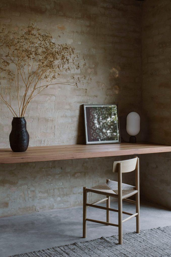 A desk inside Kyneton House by Edition Office