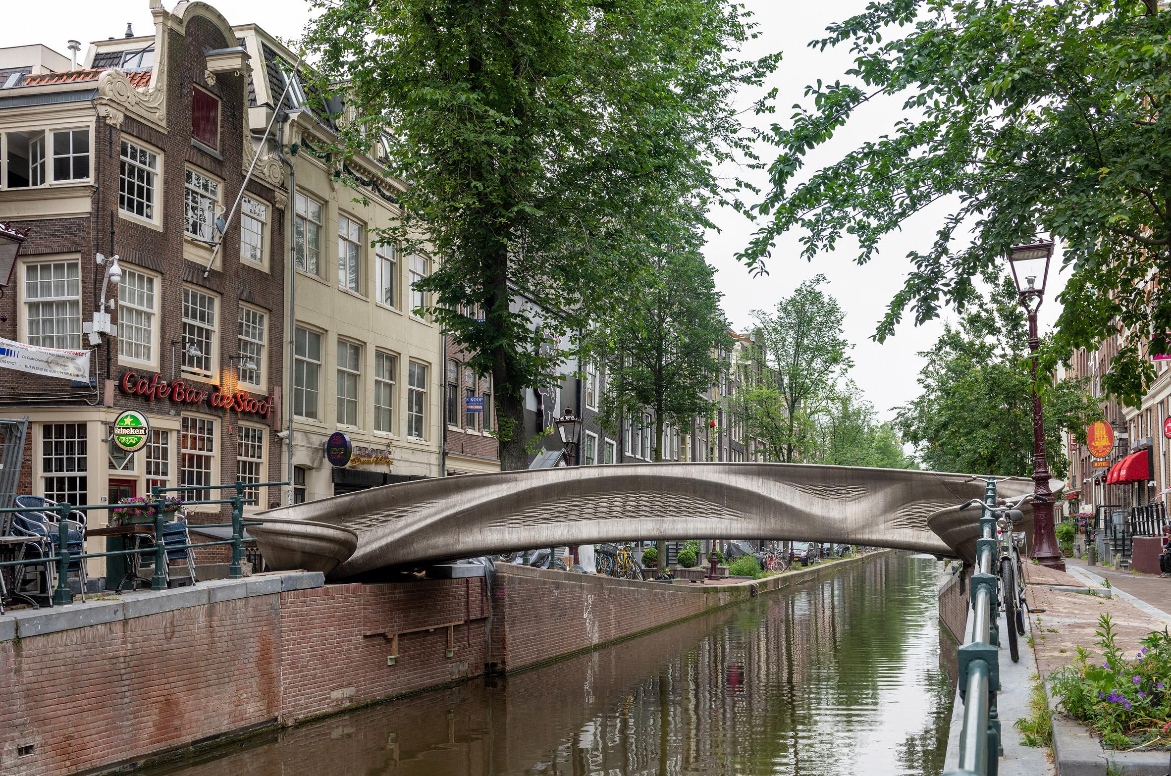 The bridge was designed using parametric modelling software