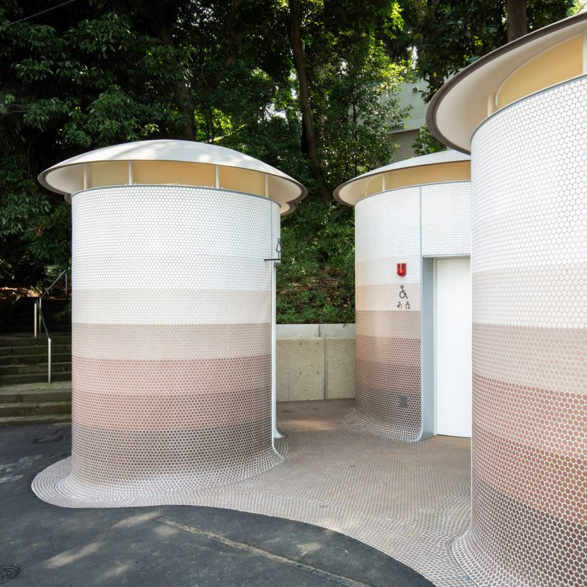 Yoyogi-Hachiman Tokyo toilet by Toyo Ito