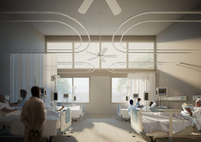 Patient ward with natural light
