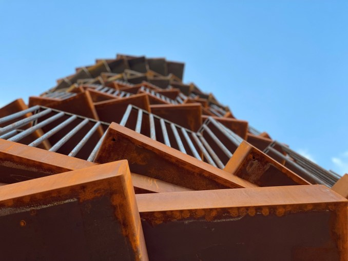 Stepped viewing tower